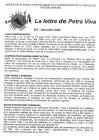 Lettre de Petra Viva n°3