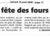 Corse Matin du 16 août 2008