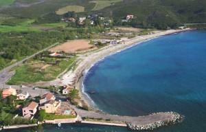 La plage vue du Castellare
