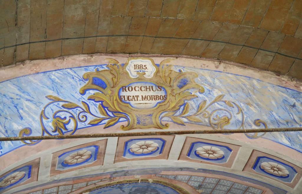 Détails de la voûte chapelle Saint-Roch. Aout 2012. Photo D.A.