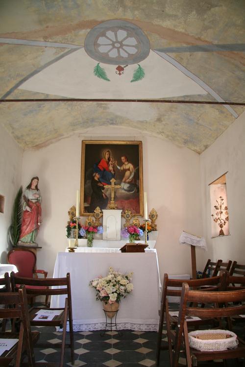 Intérieur de la chapelle Sainte-Catherine. Juillet 2011. Photo D.A.