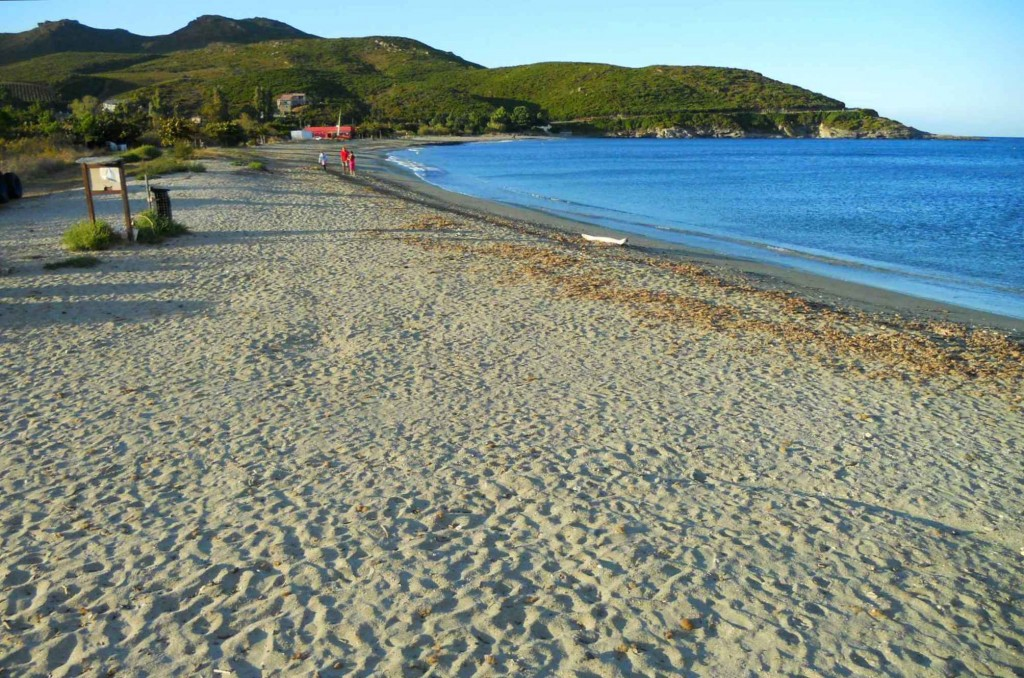 La plage en fin d'après-midi. Septembre 2010. Photo D.A.