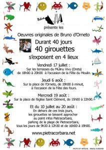 Affiche girouette. Juillet 2009. Création Marie Jourdain
