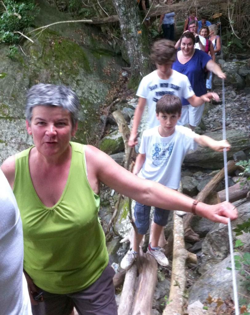 Passage de la rivière à Fiumacce. Juillet 2011. Photo D.A.