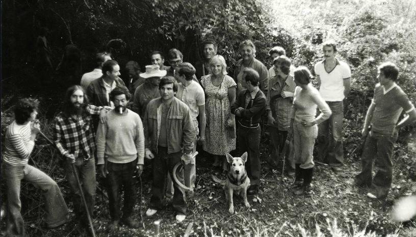 Première sortie débroussaillage de l'association. Août 1976. Photo D.A.