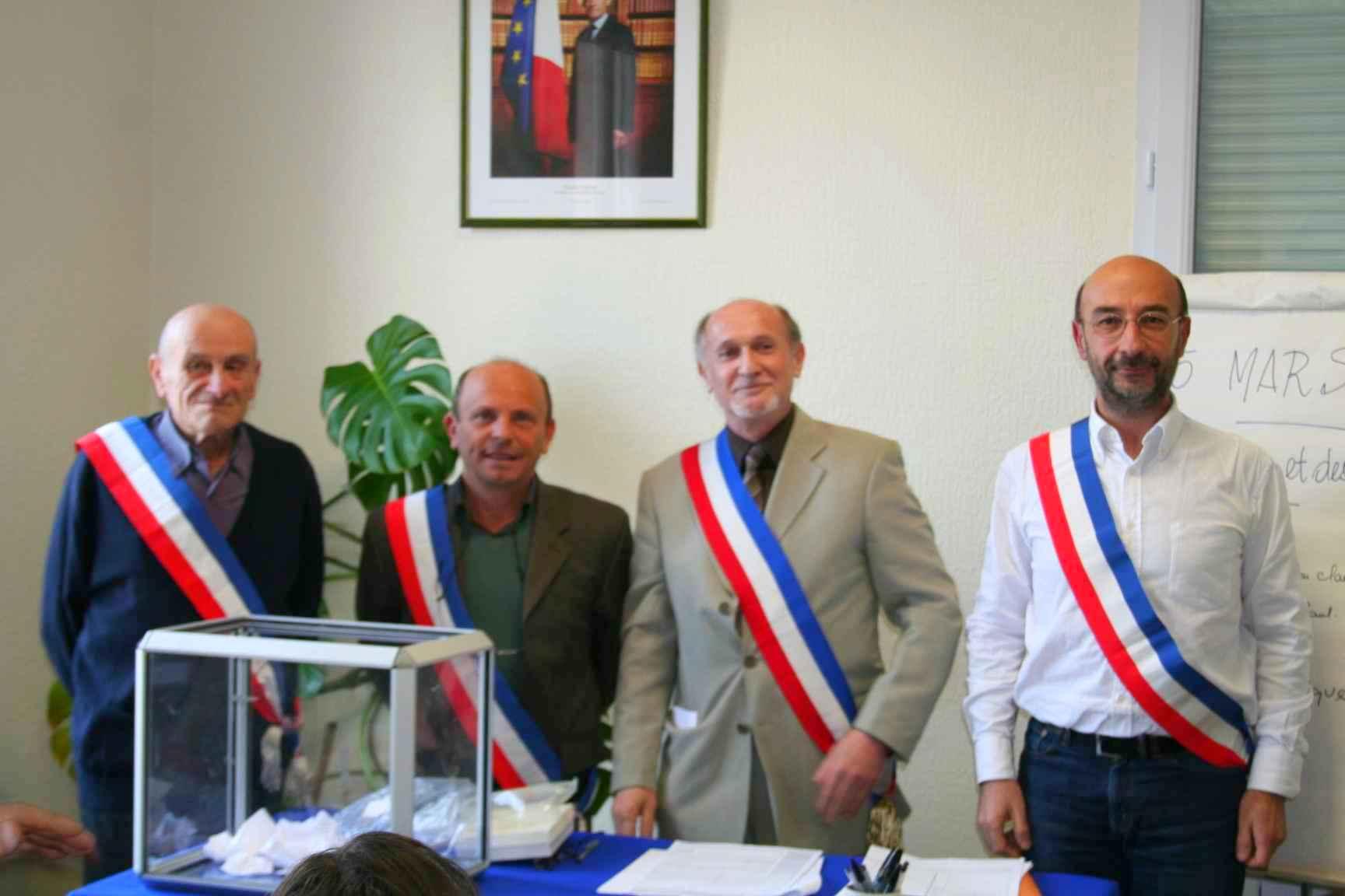 Election du maire et des adjoints. Mars 2008. Photo DR.