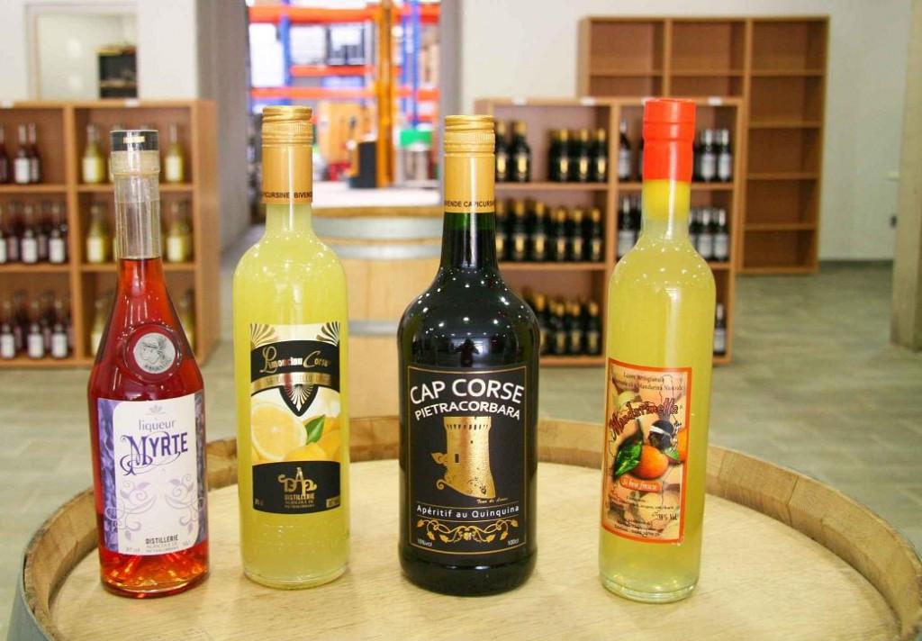 Produits de la distillerie Barone. Aout 2012. Photo D.A.